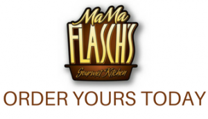 Mama Flasch Logo and text Order Yours Today
